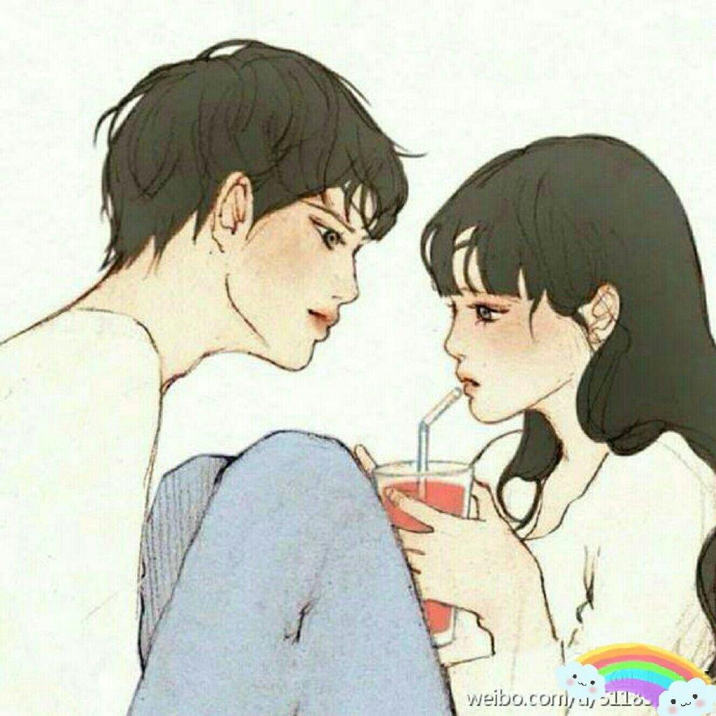 情侣头像ins一对
