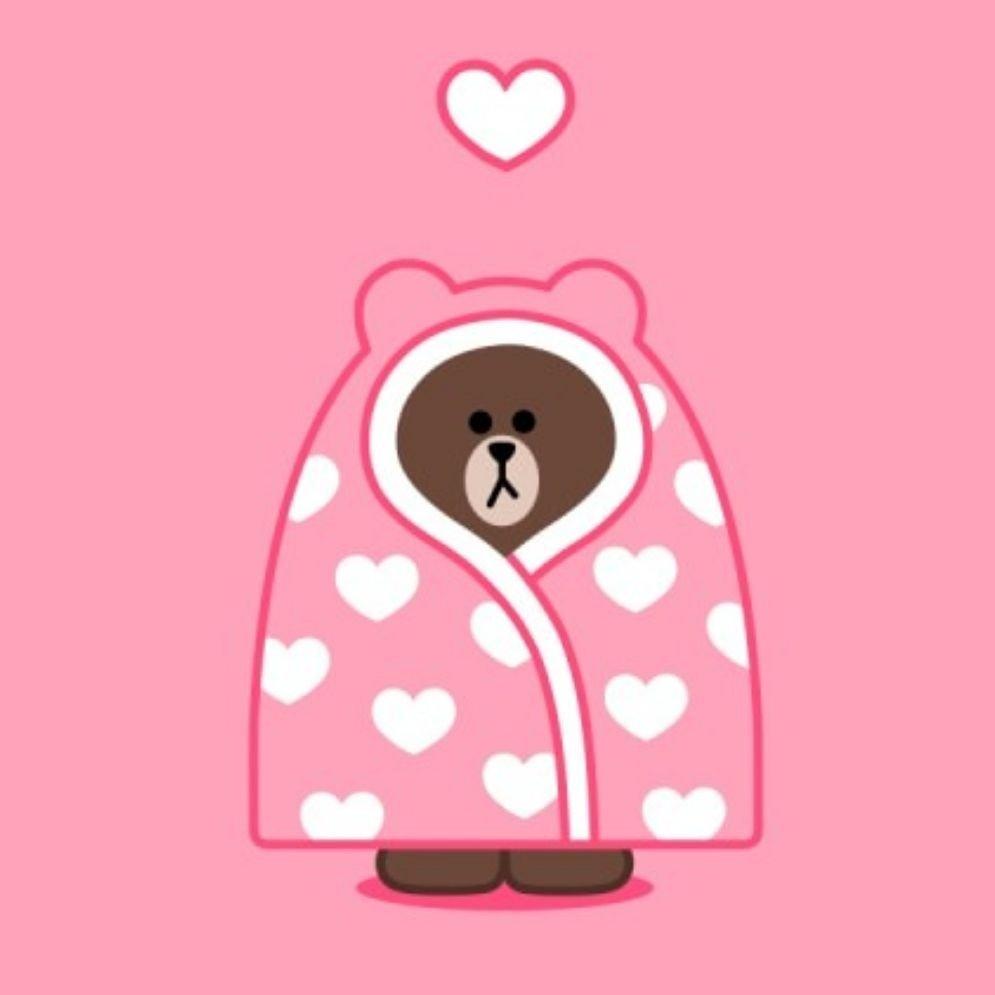 可爱的壁纸 linefriends布朗熊和可妮兔莎莉鸡壁纸#linefriends##手机