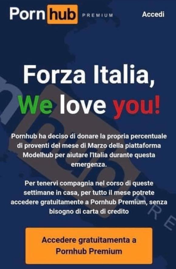 Pornhub 意大利 高级会员 付费会员