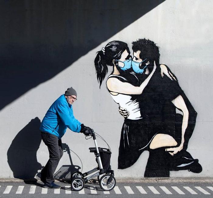 全球新冠肺炎疫情下世界各地的街头涂鸦艺术插图11