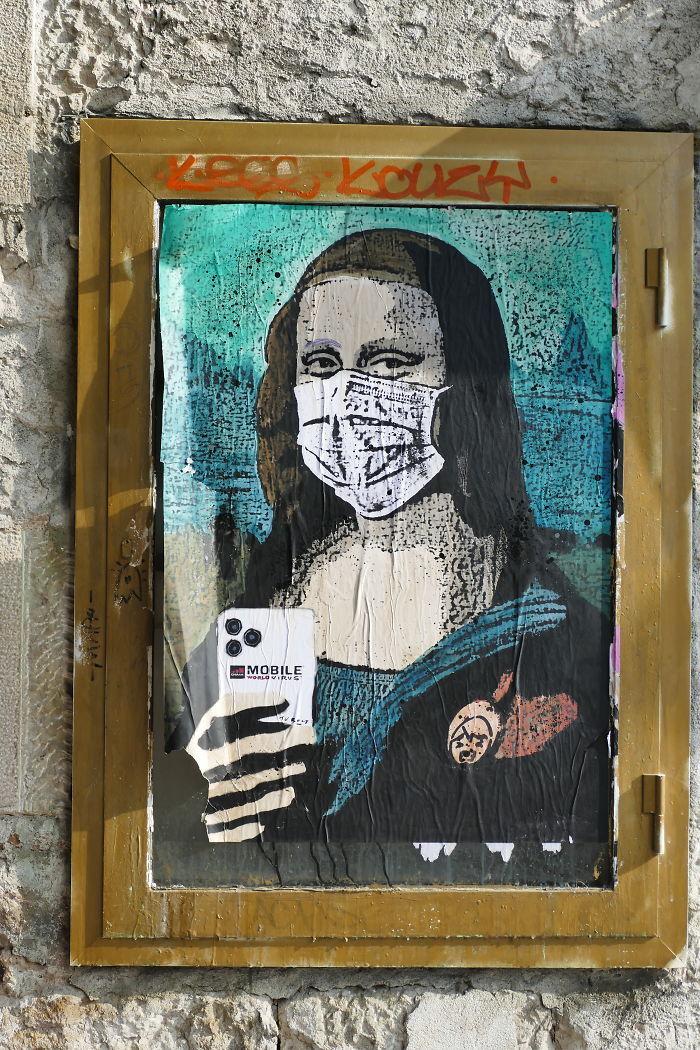 全球新冠肺炎疫情下世界各地的街头涂鸦艺术插图(23)