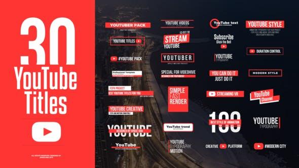 YouTube Motion Titles Final Cut Pro X 破解版 – 网络媒体文字标题排版动画
