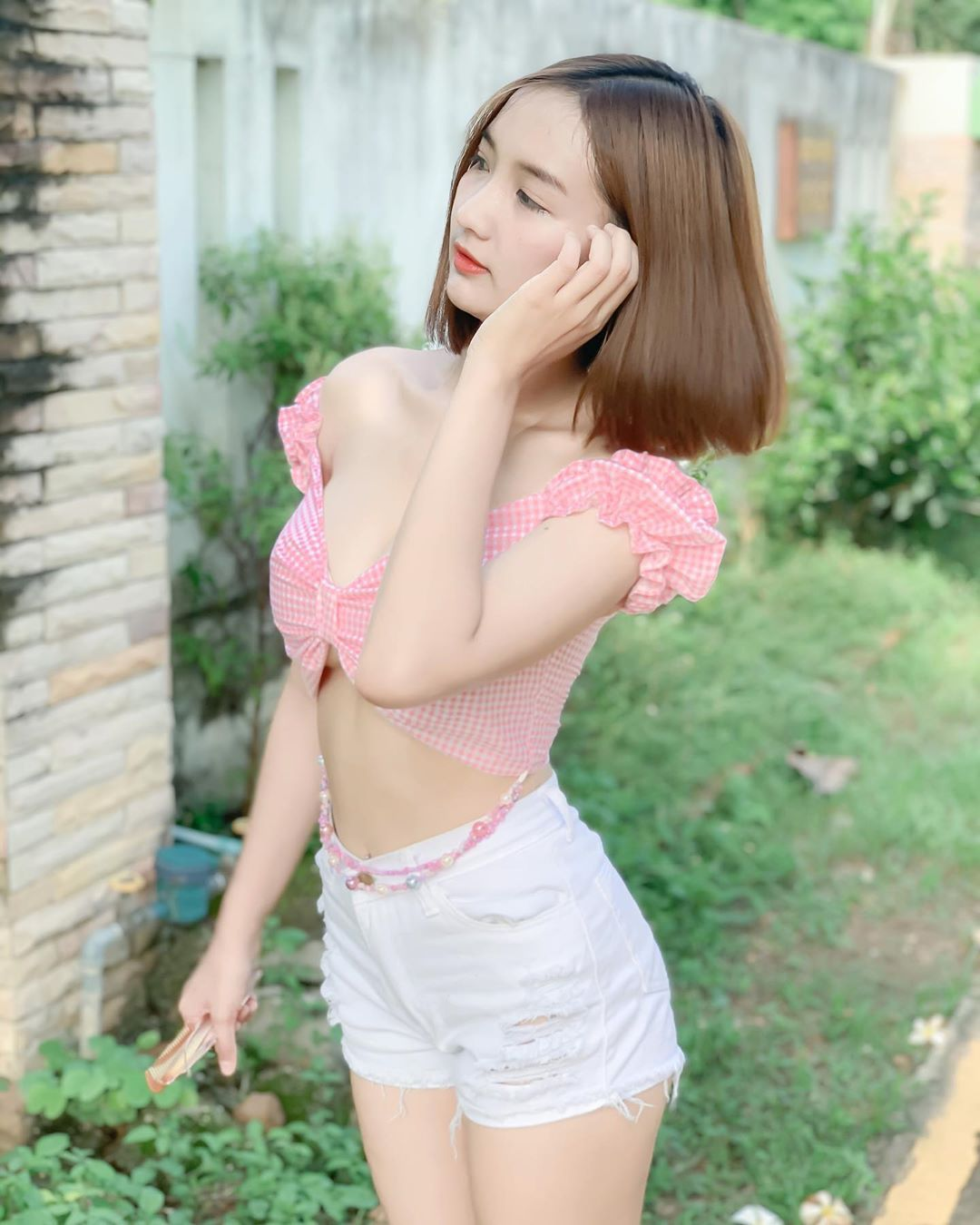 泰国童颜女主播紧身吊嘎低胸人深字沟清晰可见 男人文娱 热图6