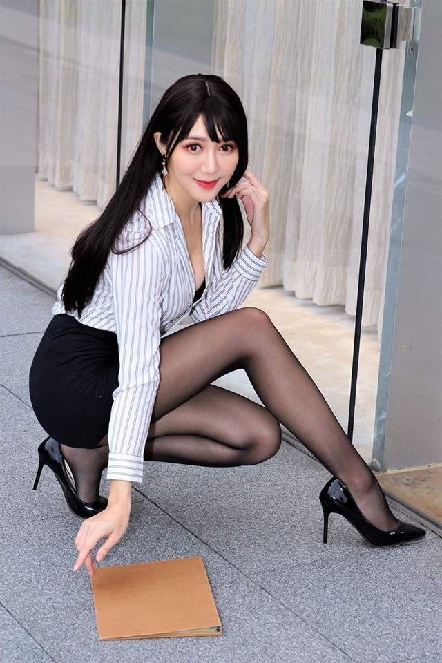 长腿模特@彭琁 一眨眼就撩走你的心 网络美女 第5张