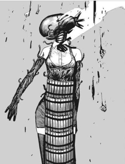 美图精选&神秘网红还原《链锯人》蕾塞「鱼雷头」!真面目是大长腿美女?-兔子社