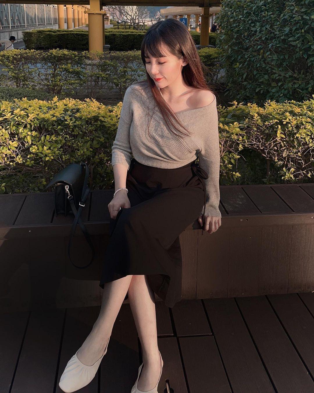 复兴商工「长发美女」.清纯性感兼具,制服下好身材. 网络美女 第6张