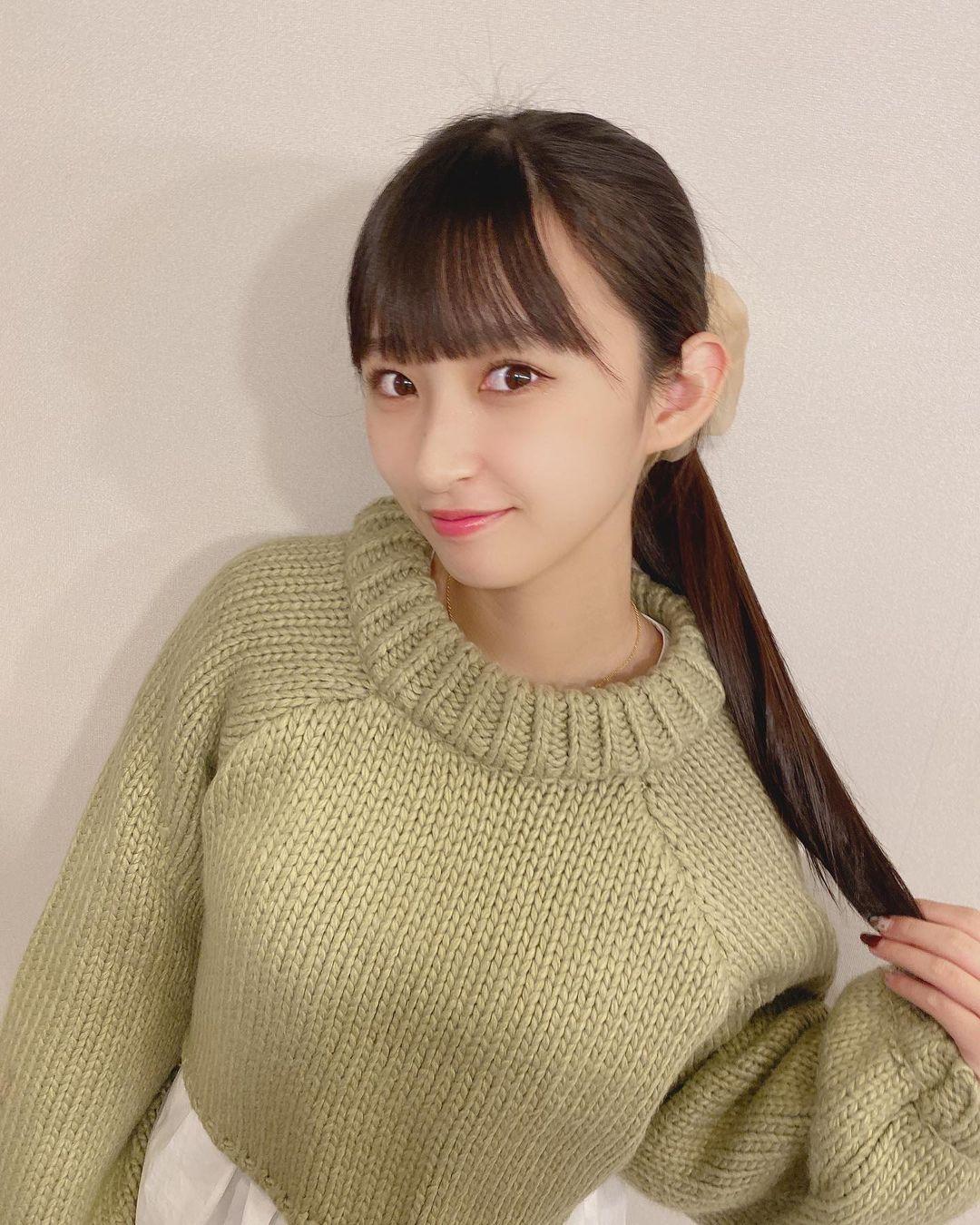 HKT48气质长发美少女「松本日向」,迷人笑容散发满满初恋感卖萌-新图包