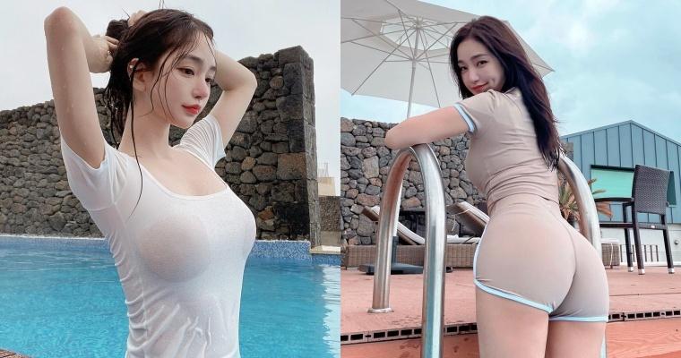 韩国美女板娘Dodo 把普通衣服穿出「凹凸曲线」IG 大晒湿身辣照