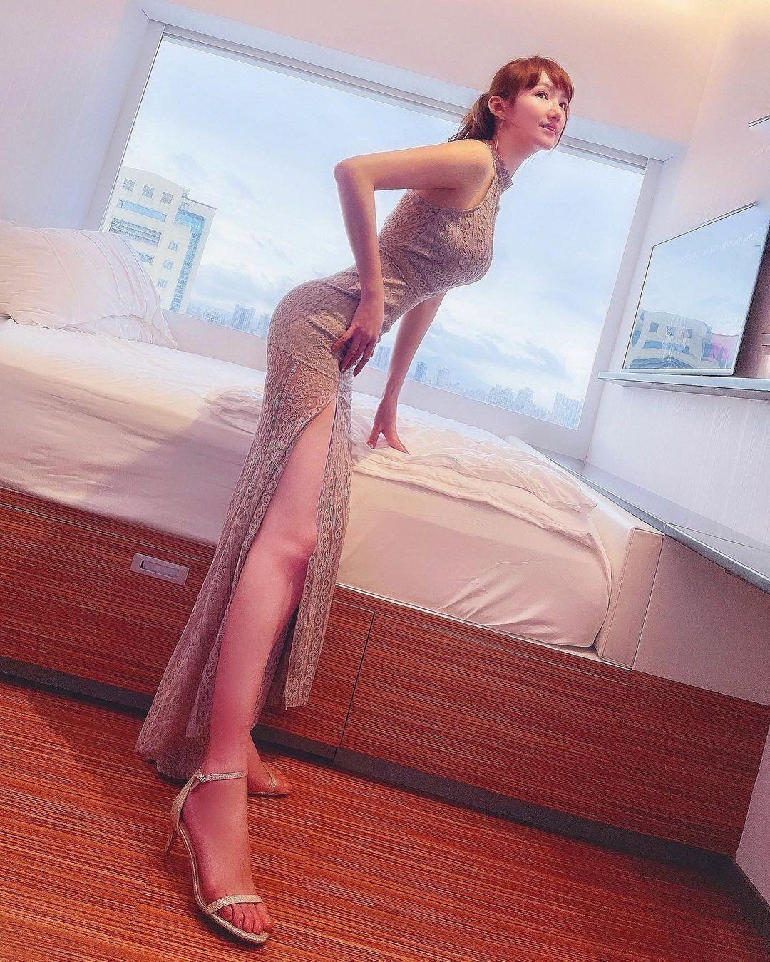 长腿连发173cm窈窕正妹Sansa珊莎美腿好逆天,好辣 网络美女 第10张