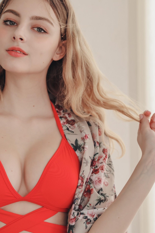 [正妹]完美比例天使脸孔[白俄罗斯女模]内衣广告网友直呼好仙 养眼图片 第14张