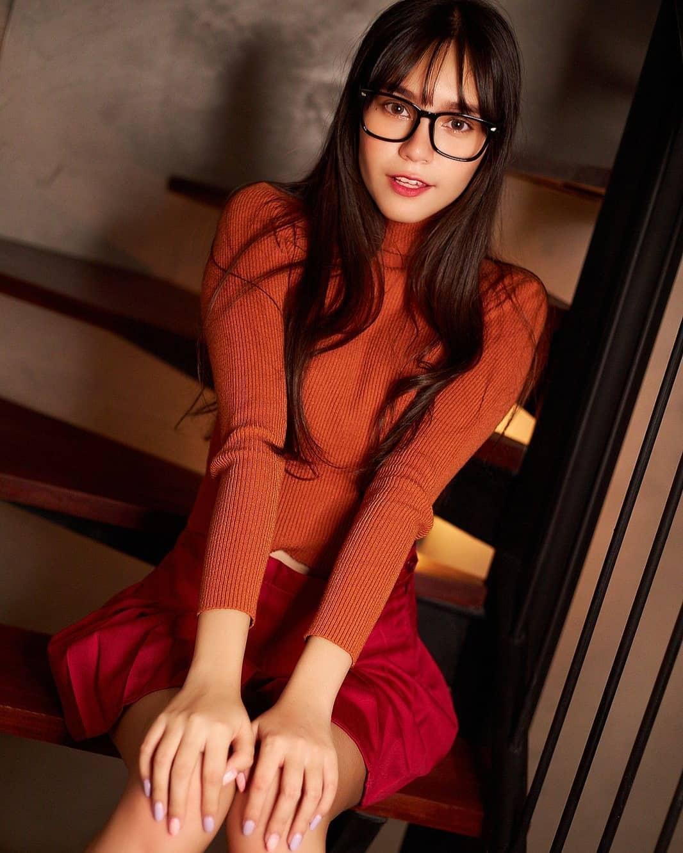 混血正妹[Bella]甜美性感完美融为一体无辜大眼加姿态好撩人 养眼图片 第5张