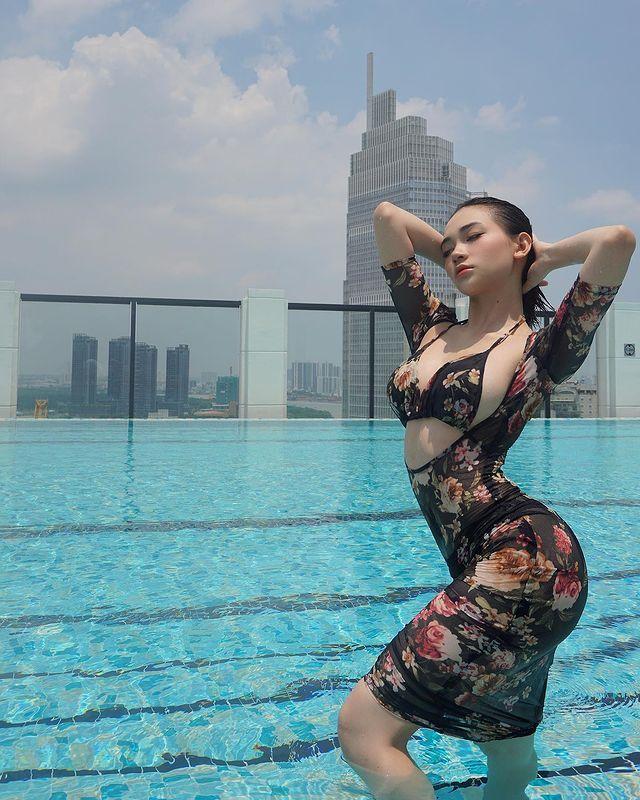 [正妹]神似娜诺越南模特网红[Gigile]腰束奶澎的曲线太火辣 网络美女 第5张