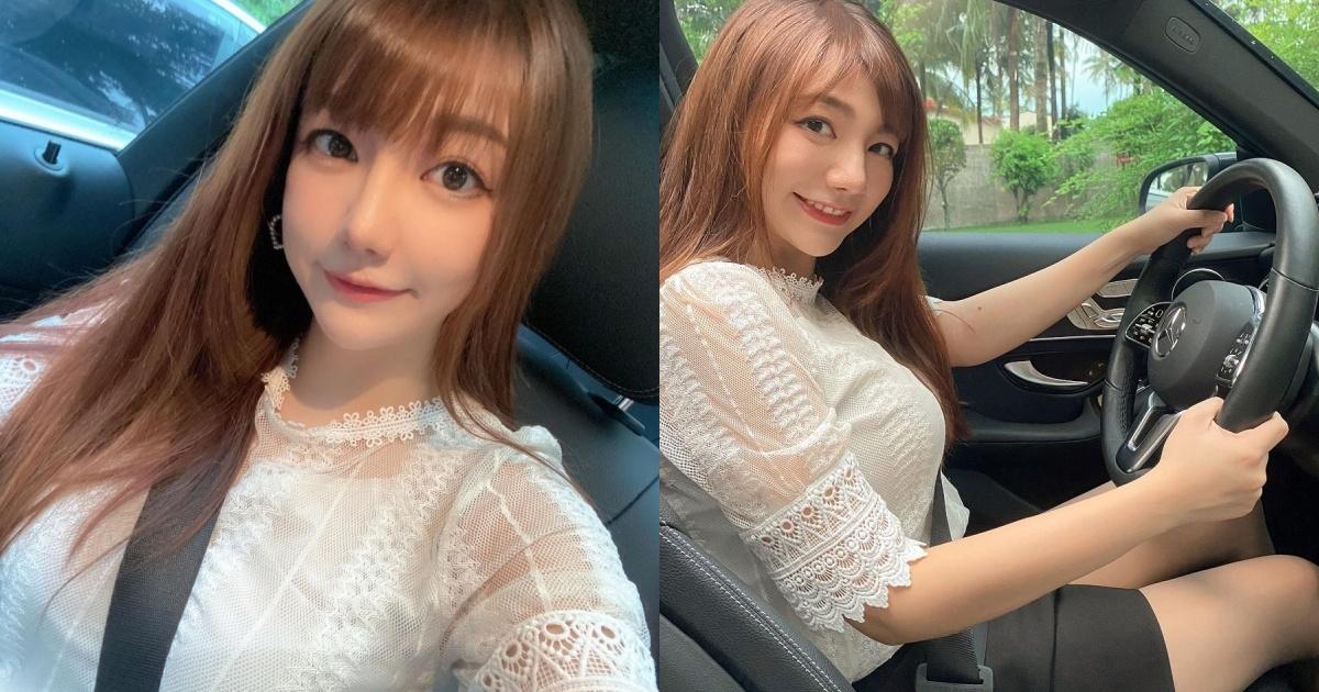 女司机Yukina优熙黑窄裙开车秀美腿,还自备安全气囊 养眼图片 第1张