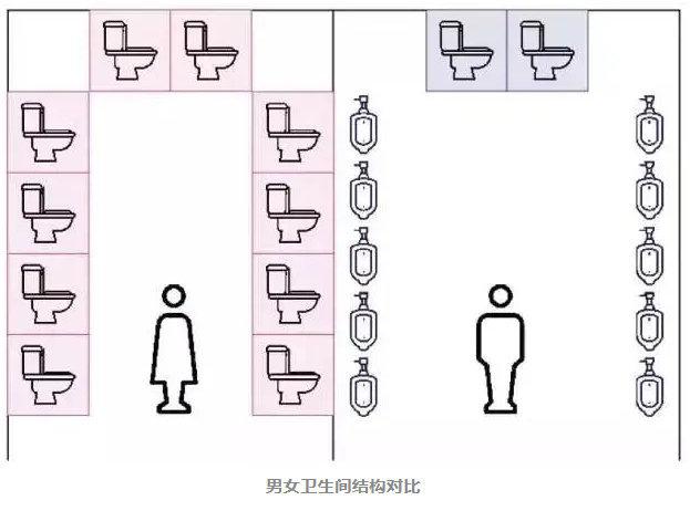 困惑很久的问题:为什么女厕永远在排队?-itotii