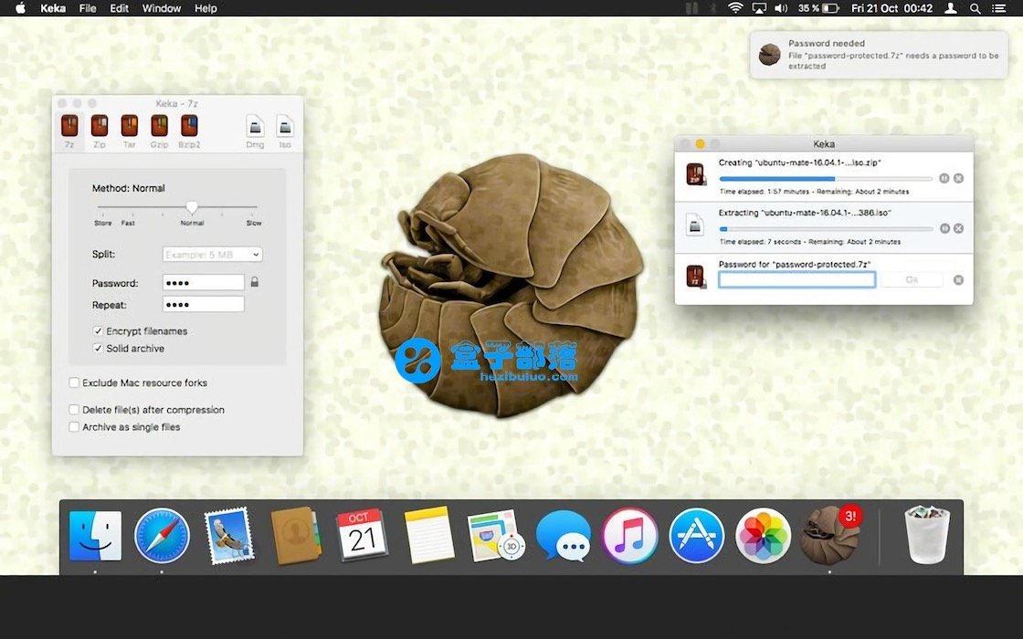 Keka v1.1.8 一款 macOS 上非常好用的文件解压缩工具中文版