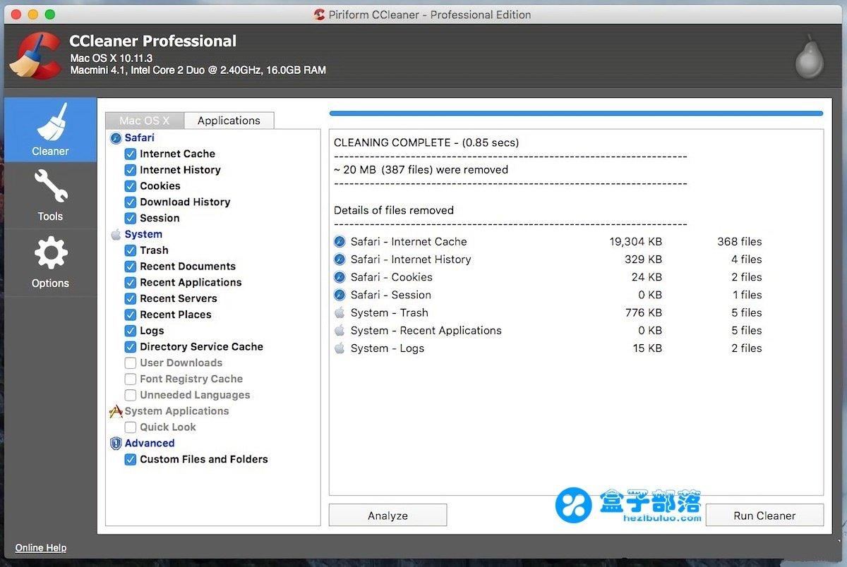 CCleaner Pro 1.15.507 for Mac 功能强大专业的系统垃圾清扫软件