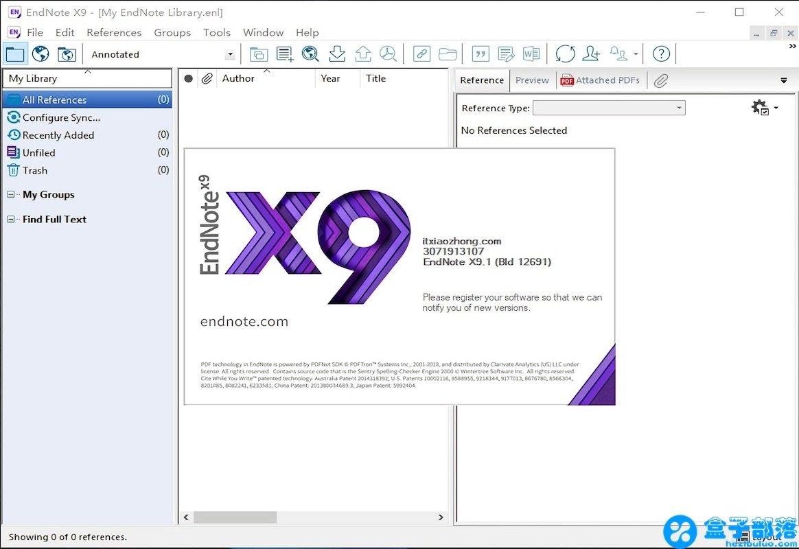 EndNote X9.1 最新版文献管理软件,同时支持 Win/Mac