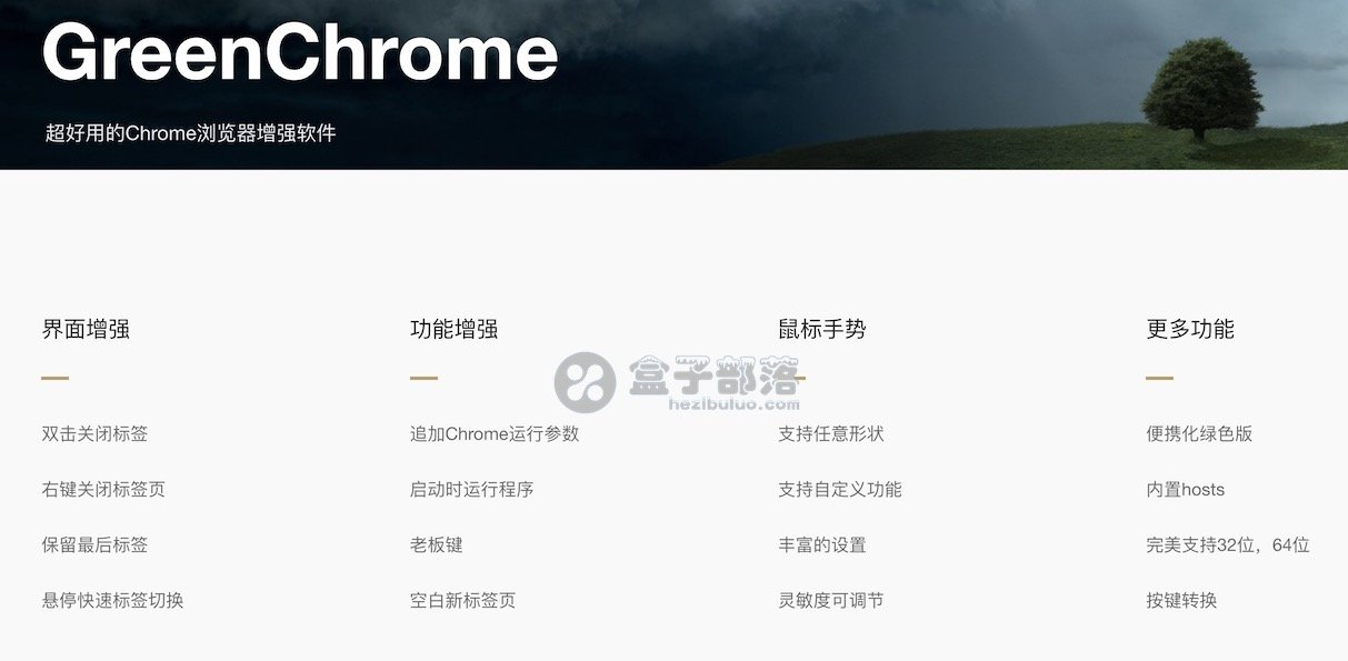 GreenChrome v6.6.1 最新版谷歌 Chrome 浏览器绿化增强插件工具