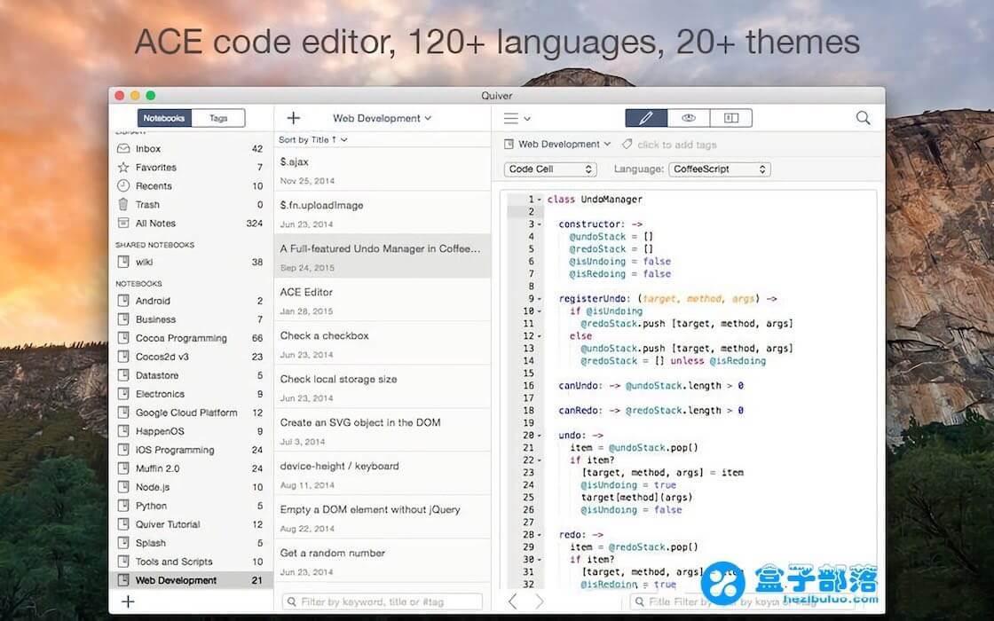 Quiver v3.2.3 一款适合程序猿使用的混合记事本应用