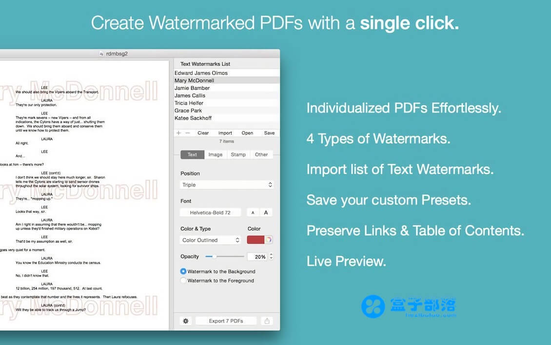 PDF Watermarker v3.9 一款方便实用的 PDF 水印添加工具