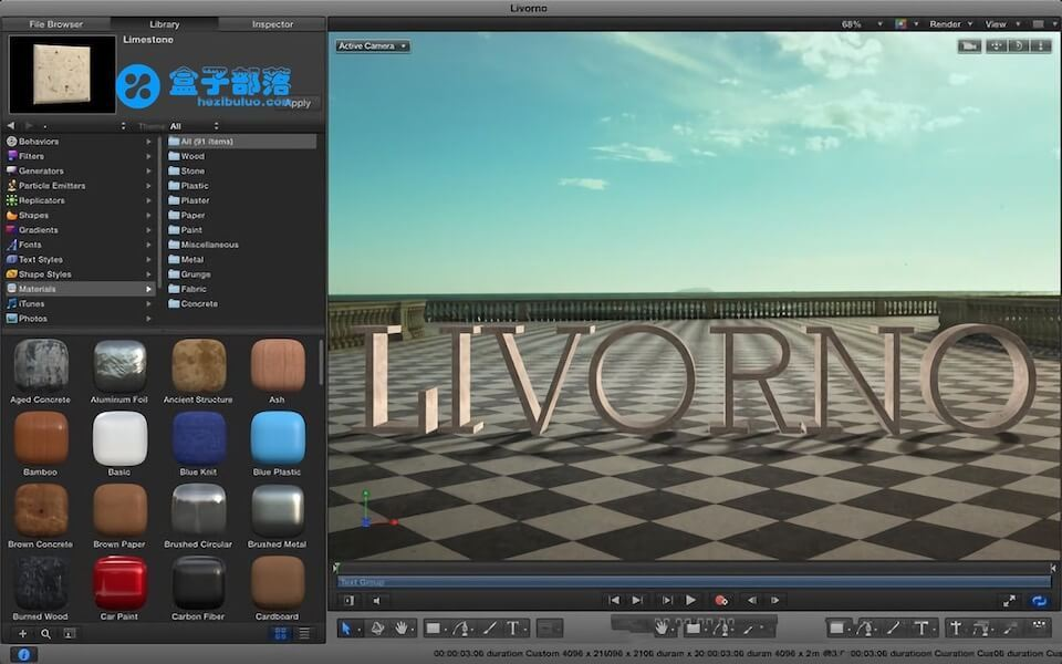 Motion v5.4.2 苹果视频后期特效制作及编辑软件