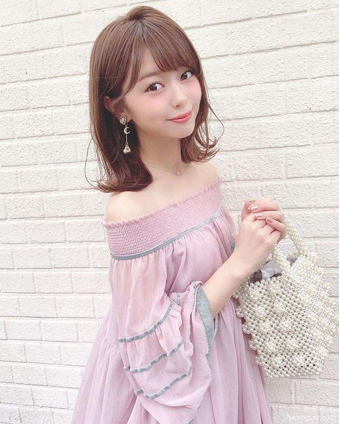 21岁日本模特石崎日梨,天使面孔,靓丽佳人_12