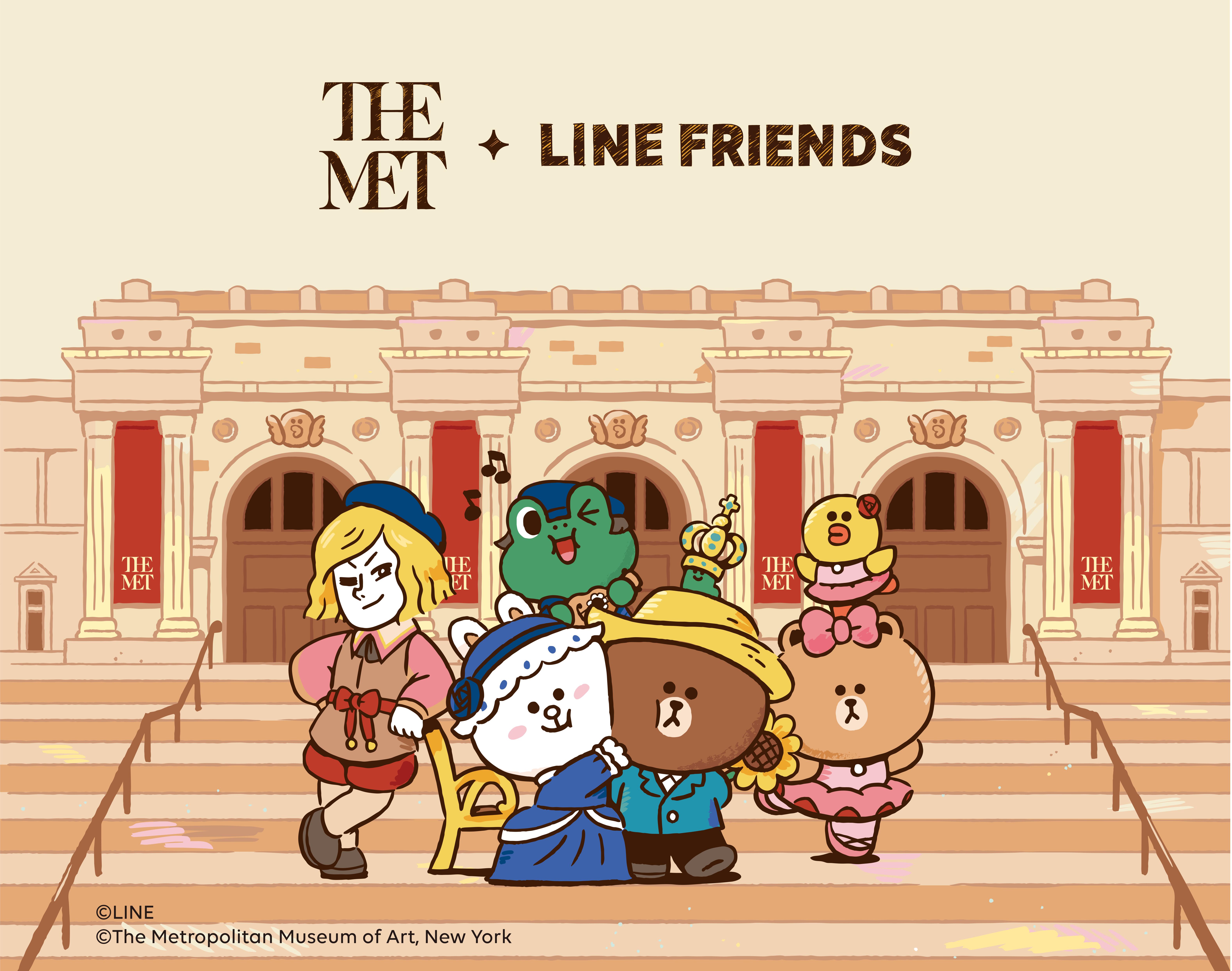 LINE FRIENDS和大都会艺术博物馆全新艺术跨界合作