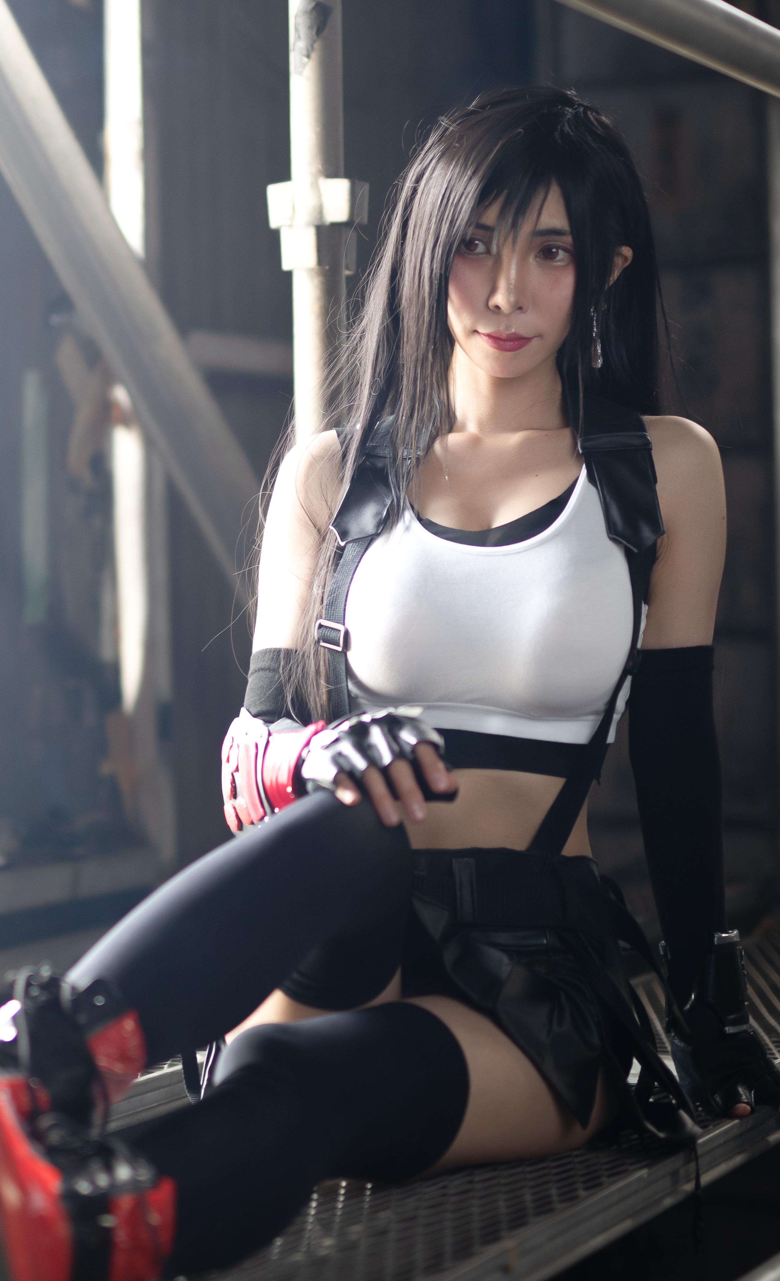 蒂法战斗服性感能打 猫耳美少女玉体横陈-COS精选一百六十三弹