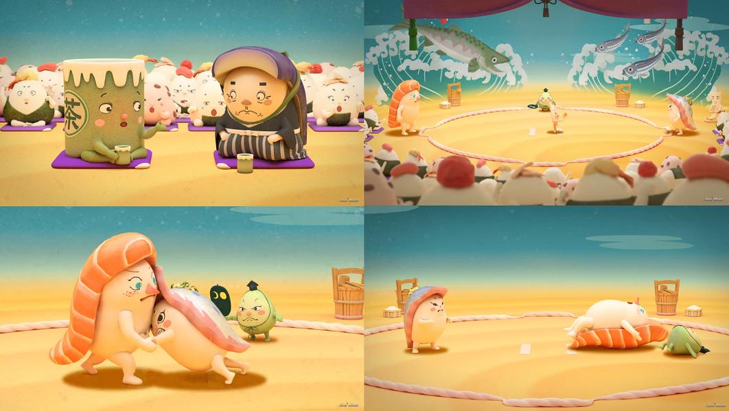 动画《寿司大相扑》将寿司和相扑有机结合在一起 (5)