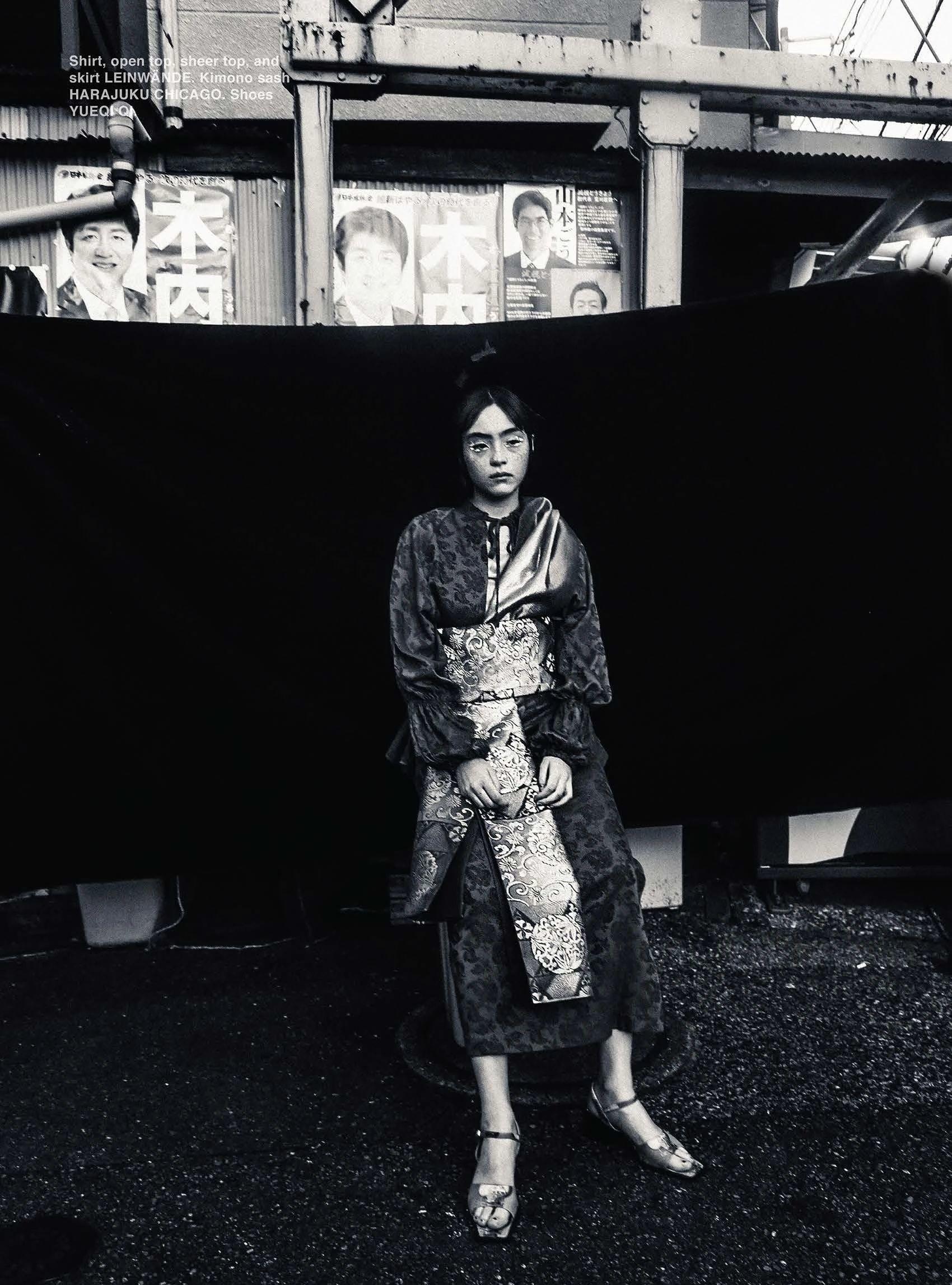 满脸雀斑却依旧很美的混血模特世理奈写真作品 (5)