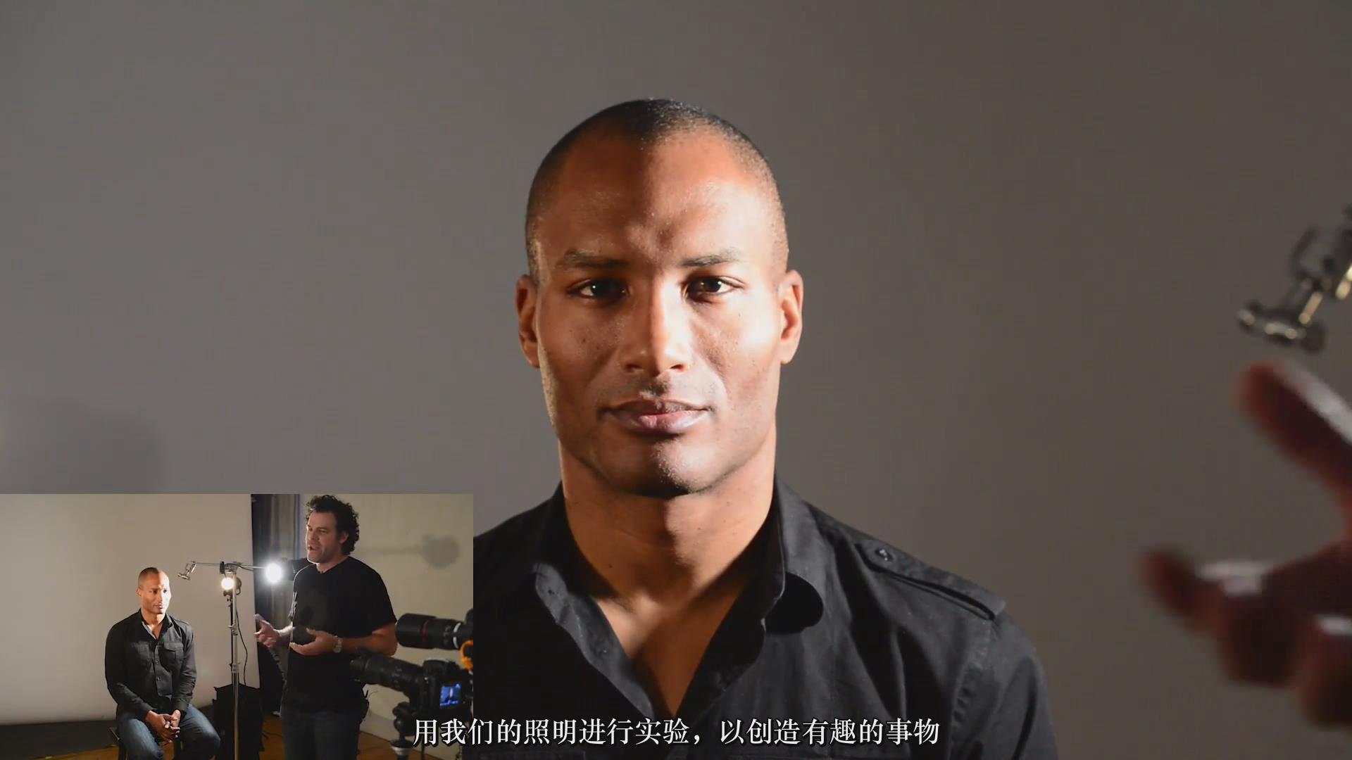 摄影教程_Fstoppers-彼得·赫利(Peter Hurley)完美头像人像面部布光教程-中文字幕 摄影教程 _预览图11