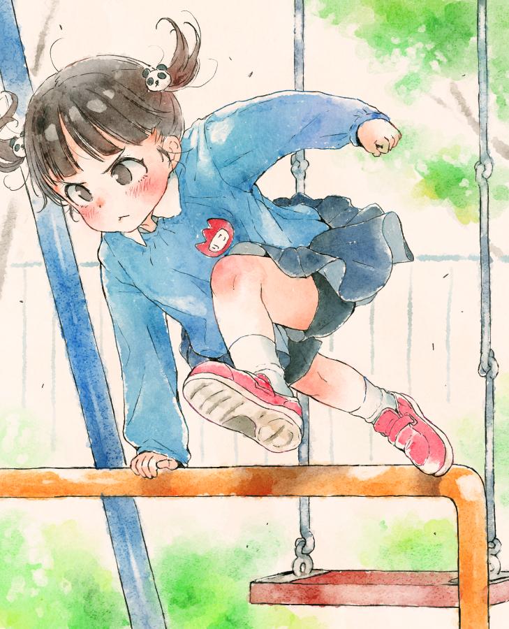 「幼稚园女孩的日常」插画!再现熟悉的小猫熊威吓?!插图6