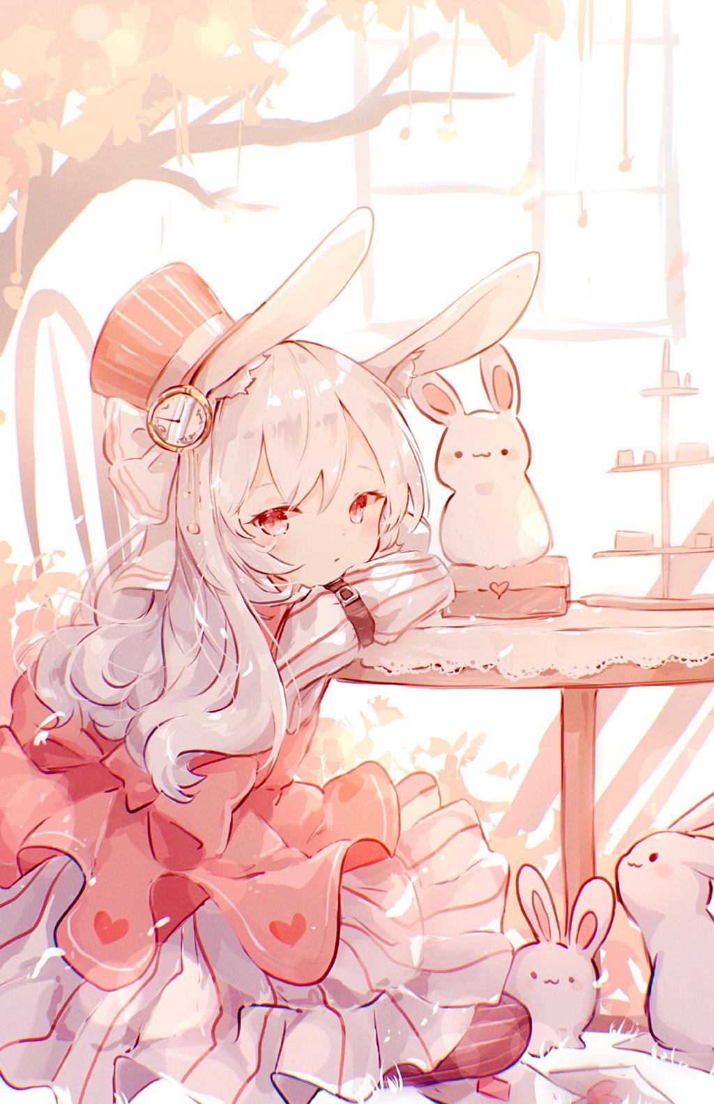 P站精选&兔兔那么可爱!怎么可以…中秋节兔耳娘壁纸特辑-Zhaiuu.Com-宅尤尤