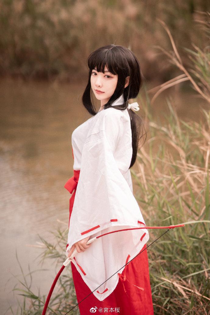 美少女cosplayer宮本桜cos桔梗-cos图片