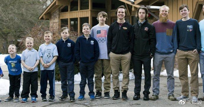 密歇根一对夫妇连生14个儿子,终于迎来了第一个女儿