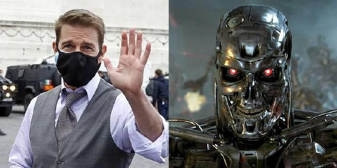 阿汤哥买了两个机器人在片场监督防疫